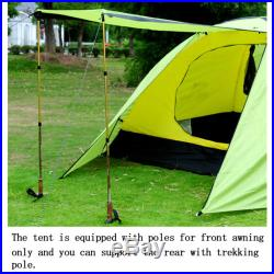 Track Man 3-4 Person Double-layer Waterproof Camping Tent Backpacking Hiking New