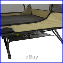 Two-Person Full Size Cot Tent, Double Rainfly 79x58 Bed Area Sleeper Sleeps 2
