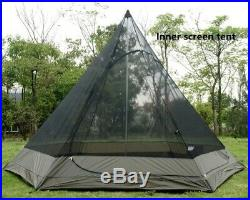 US Ship Light Weight Waterproof Family Camping Teepee Tent Big Indian Tipi Tent