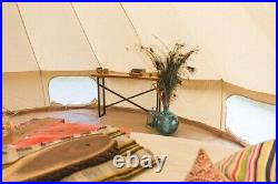 US Shipped 3M/4M/5M/6M Family Camping Cotton Canvas Bell Tent Glamping Yurt Tent