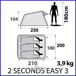 (US Warehouse) Quechua Waterproof Pop Up Camping Tent 2 Seconds Easy III, 3 Man