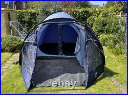 VANGO Venture 500 5 Person Man Tent Blue Dome 1 Bedroom & Porch