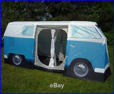 VW Camper Van Tent Volkswagen Bus Camping Blue Orange Red
