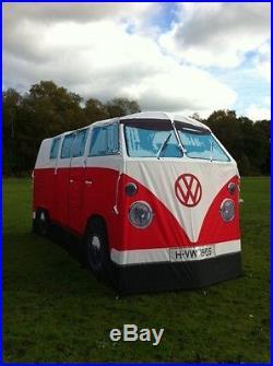 VW Camper Van Tent Volkswagen Bus Camping Blue Red Orange Green Aircooled