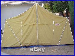 Vintage Coleman Deluxe Vagabond 13x8 Canvas Tent