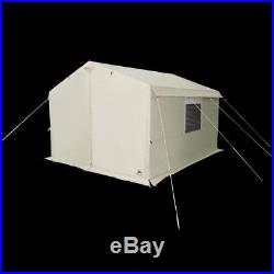 Wall Tent Outdoor Camping Shelter Hanging Pocket 12x10 Sleeps 6 Strong Wheel Bag