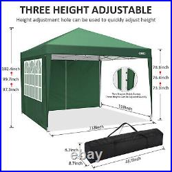 Waterproof 10'10' Right Angle Folding Tent Pop-up Canopy Tent with Carry Bag