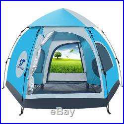 Waterproof 5-6 People Automatic Instant Pop Up Tent Family Camping Hiking Tent