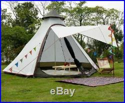 Waterproof Indian Camping Beach Yard Canopy Awning Gazebo Glamping Yurt Tent NEW
