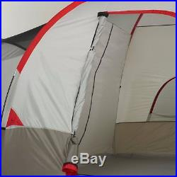 Wenzel Blue Ridge 14-Ft x 9-Ft 2-Room 7-Person Polyester Camping Tent, Red-Gray