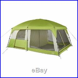 Wenzel Eldorado 15 x 10 Family Cabin Camping Tent with Divider & Rainfly, Green