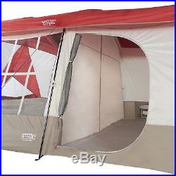 Wenzel Kodiak 12 x 14 9 Person Family Cabin Style Camping Tent with divider, Red