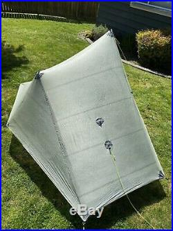 ZPACKS Solplex DCF Cuben Fiber Ultralight Tent Olive Drab Good Condition